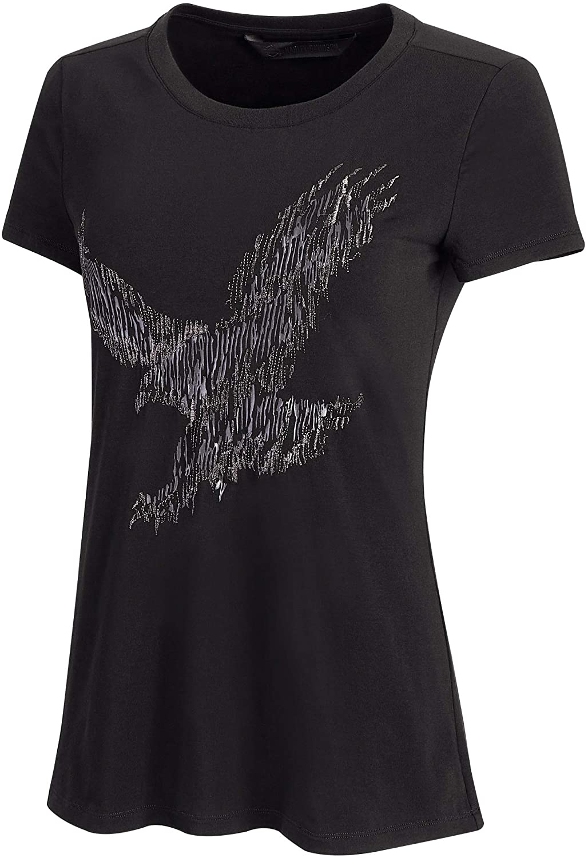 Harley-Davidson Women's Metallic Embroidered Tee, Black