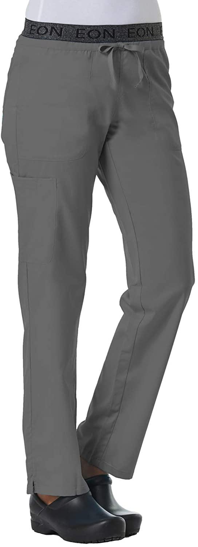 Maevn Women's EON Waistband 7-Pocket Cargo Pant(Pewter, Small Petite)