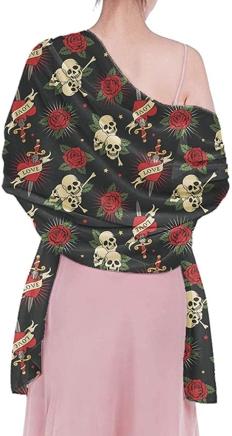 Hair Scarf, Long Women Beach Wrap Cover Stole, Lightweight Bandanas Shawls