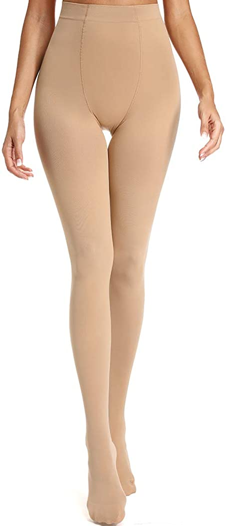 Joyshaper Control Top Opaque Tights for Women Plus Size Thermal Winter Tights Thick Warm Hosiery Pantyhose