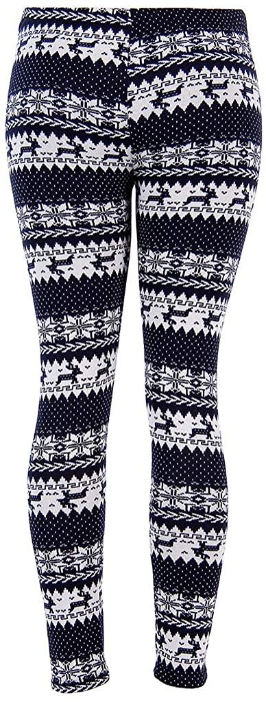 QILINXUAN Fashion Vogue Women Warm Winter Knit Snowflake Leggings Xmas Stretch Pants