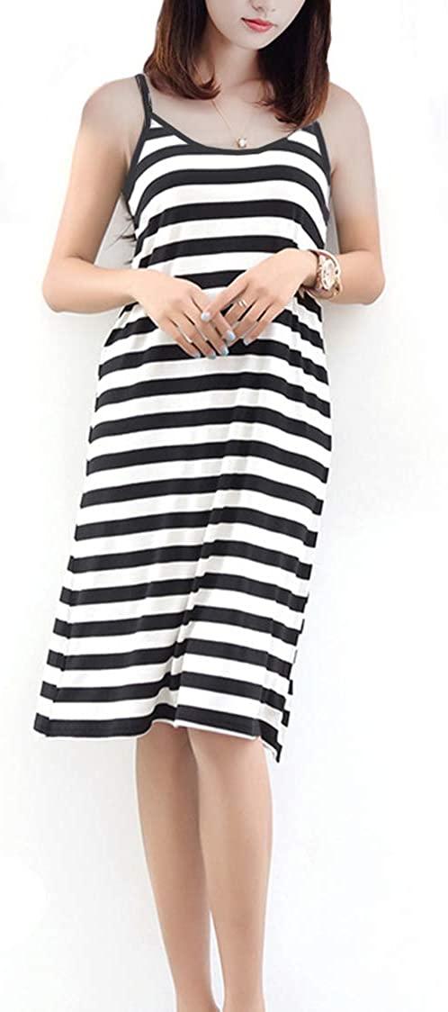 MMissy Women Long Adjustable Spaghetti Strap Full Cami Slip Camisole Under Dress Liner Nightgown