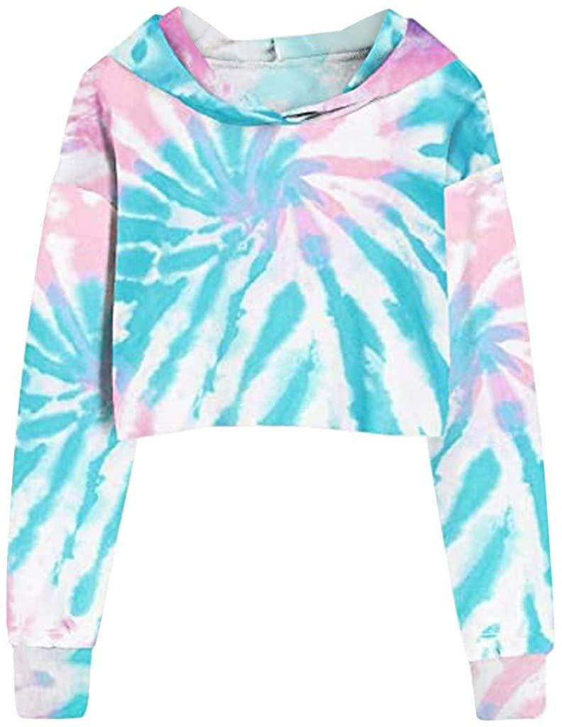Vedolay Women Long Sleeve Sweatshirt, Womens Crewneck Tie Dye Gradient Shirt Casual Loose Pullover Blouse Hoodies Tops Tee