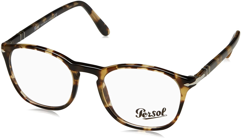 Persol PO3007V Eyeglasses 1056 Brown/Beige Tortoise w/ Demo Lens 52mm