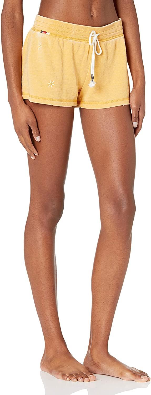 PJ Salvage Women's Peace & Love Shorts, Small, Denim