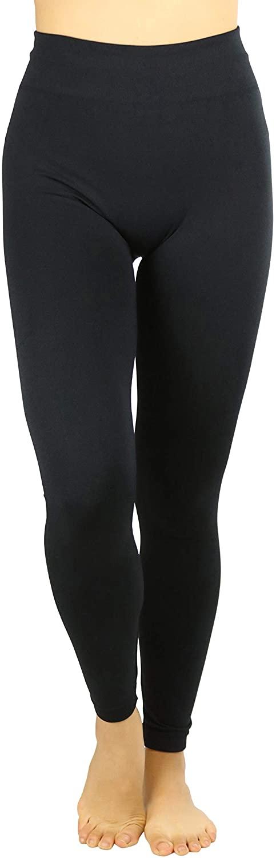 ToBeInStyle Women's High Waist Fur Lined Ankle Length Leggings