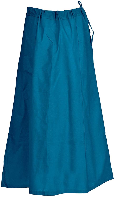 Indian Trendy Sari Petticoat Cotton Stitched Adjustable Waist Saree Underskirt Lining Skirt