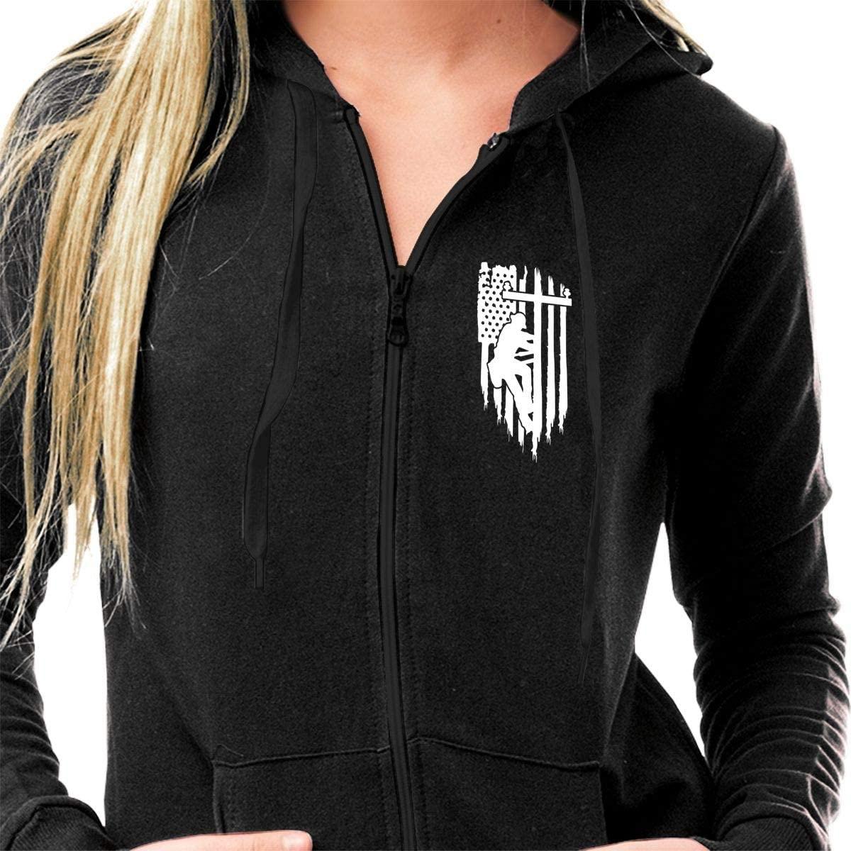 Full Zip Hoodie Graphic Jacket for Women Slim Fit Casual Long Sleeve Sweatshirts