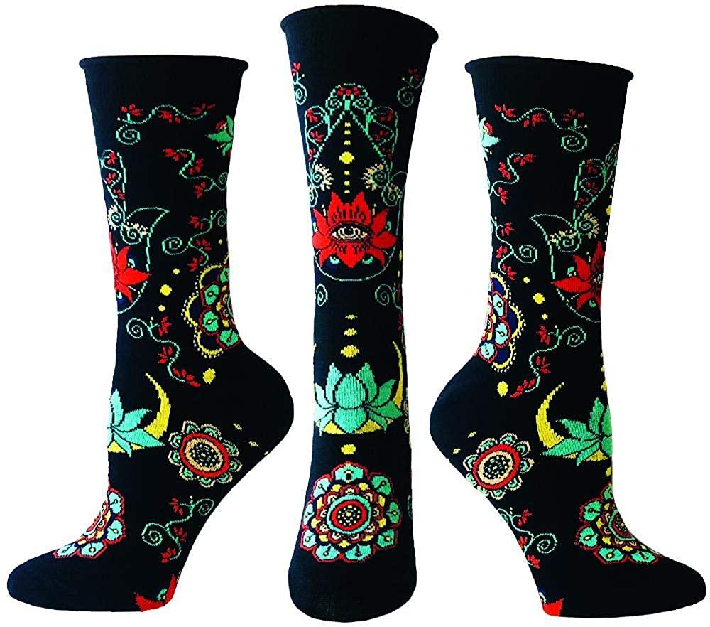Ozone Womens Buddhist Blessing Socks