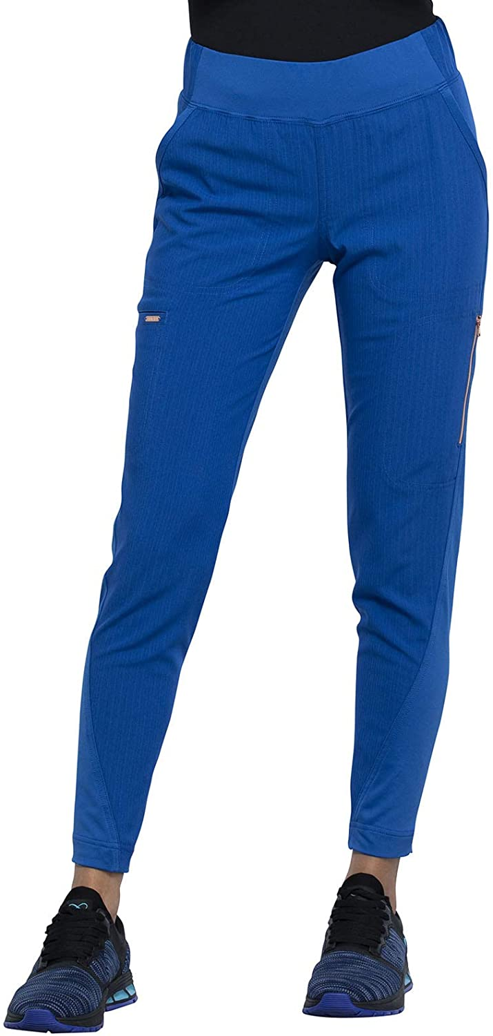 CHEROKEE Statement Mid-Rise Tapered Leg Pull-on Pant, CK175, XS, Royal