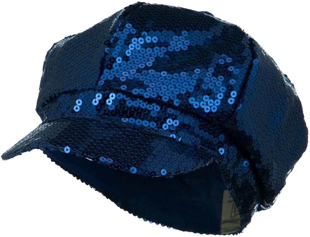 SS/Sophia Sequin Newsboy Cap - Blue W15S66C