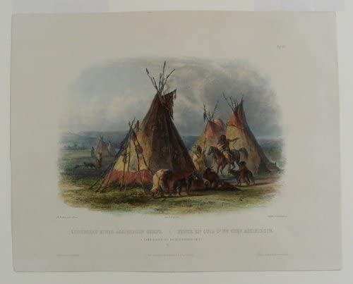 A skin lodge of an Assiniboin chief
