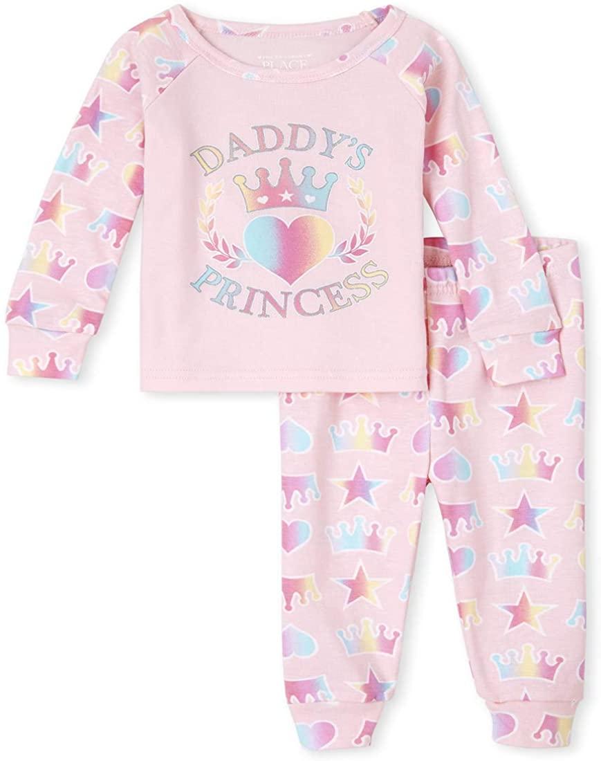 The Children's Place Baby Girls' Princess Pajama Set