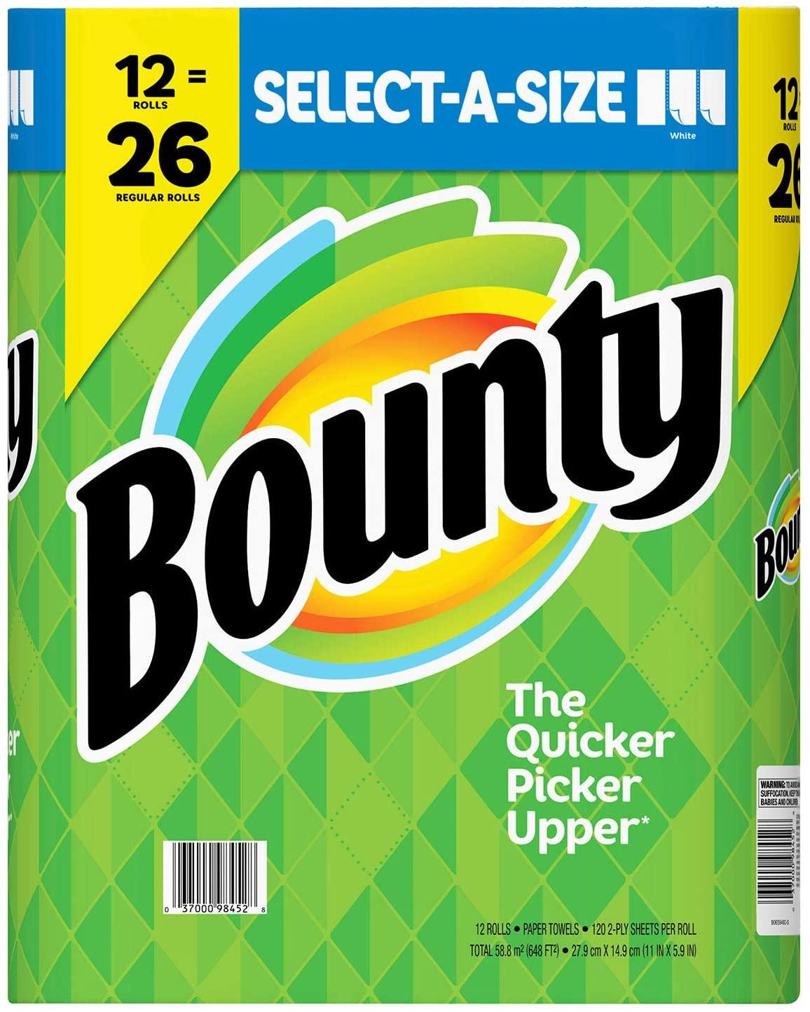 Bounty Select A Size Paper Towels, 12 Mega Rolls