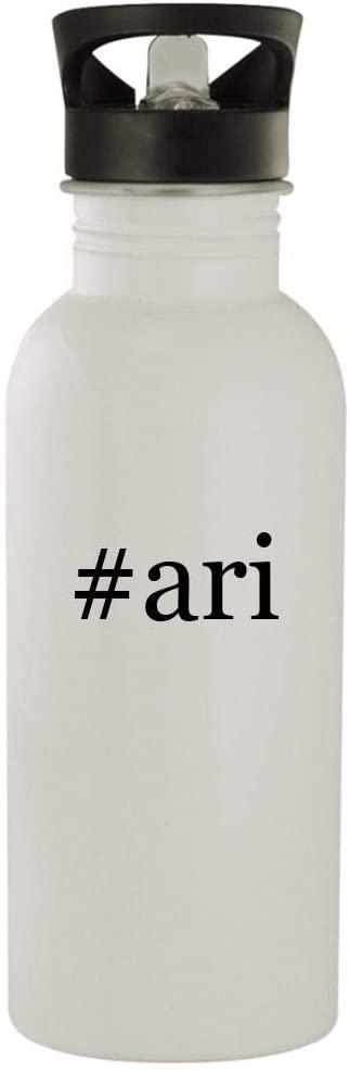 #ari - 20oz Stainless Steel Water Bottle, White
