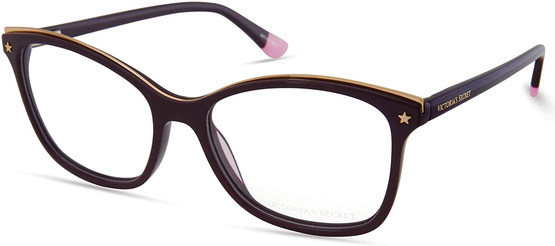 Eyeglasses Victoria's Secret VS 5012 081 Purple W/Metal Top Bar And Gold Star On
