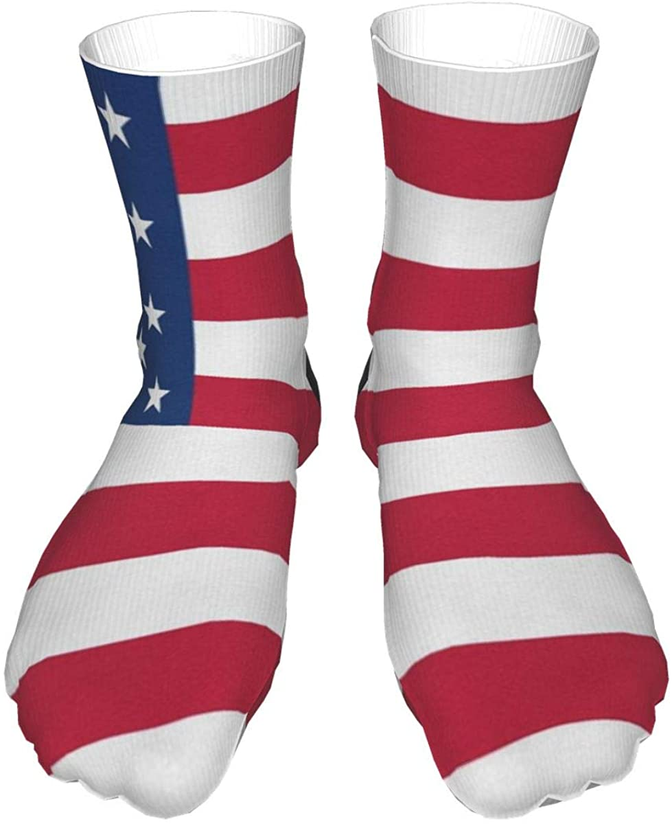 Crew Socks American Flag Patriotic Usa Flags Mens Womens Unique Mid Calf Dress Sport Socks Man