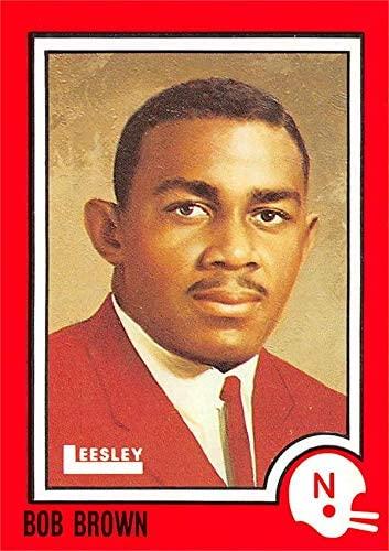 Bob Brown Football Card (Nebraska Cornhuskers Guard) 1989 Leesley Pizza Hut #33