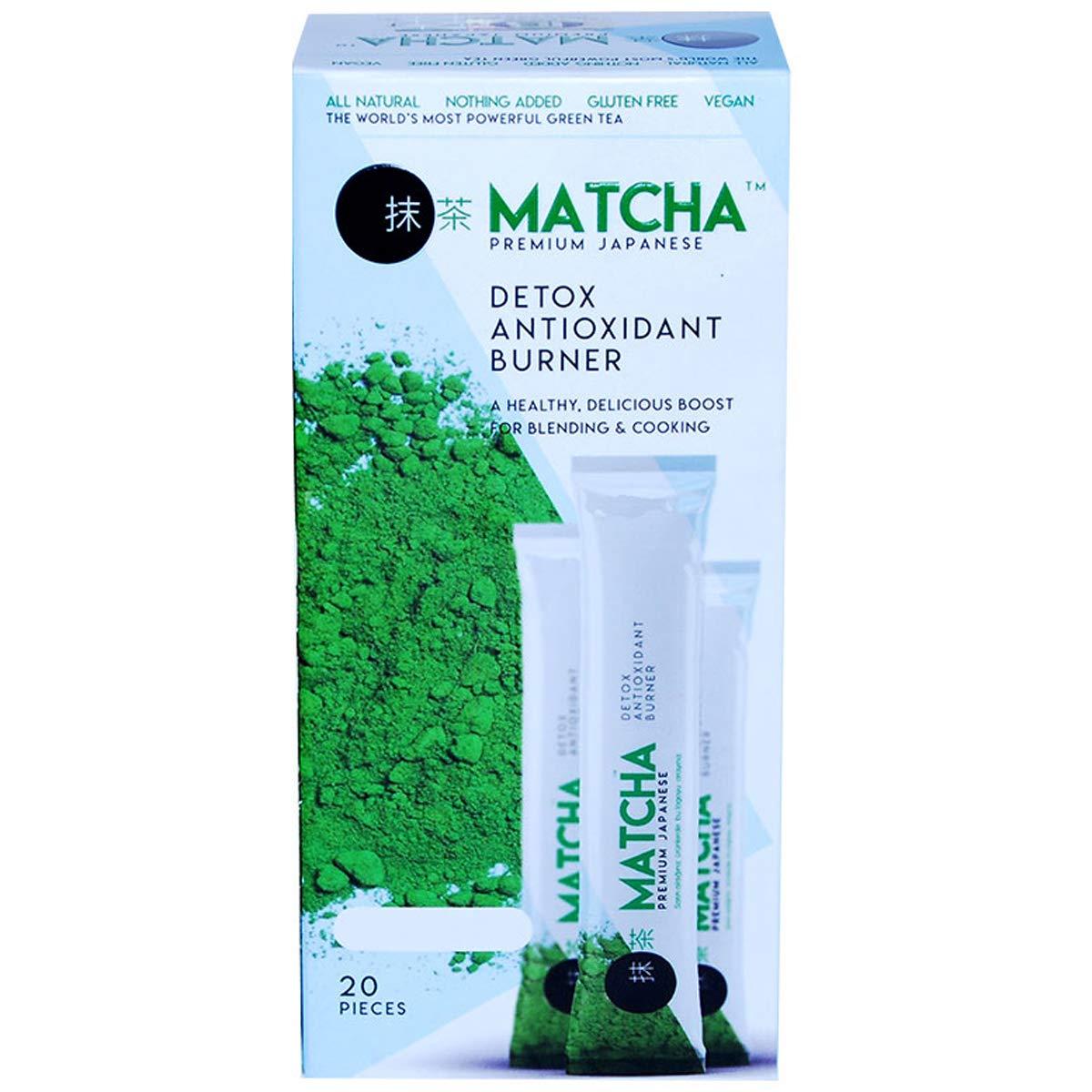 Matcha Green Tea Powder Organically Grown Japanese Natural Tea (20 pcs x 10g)