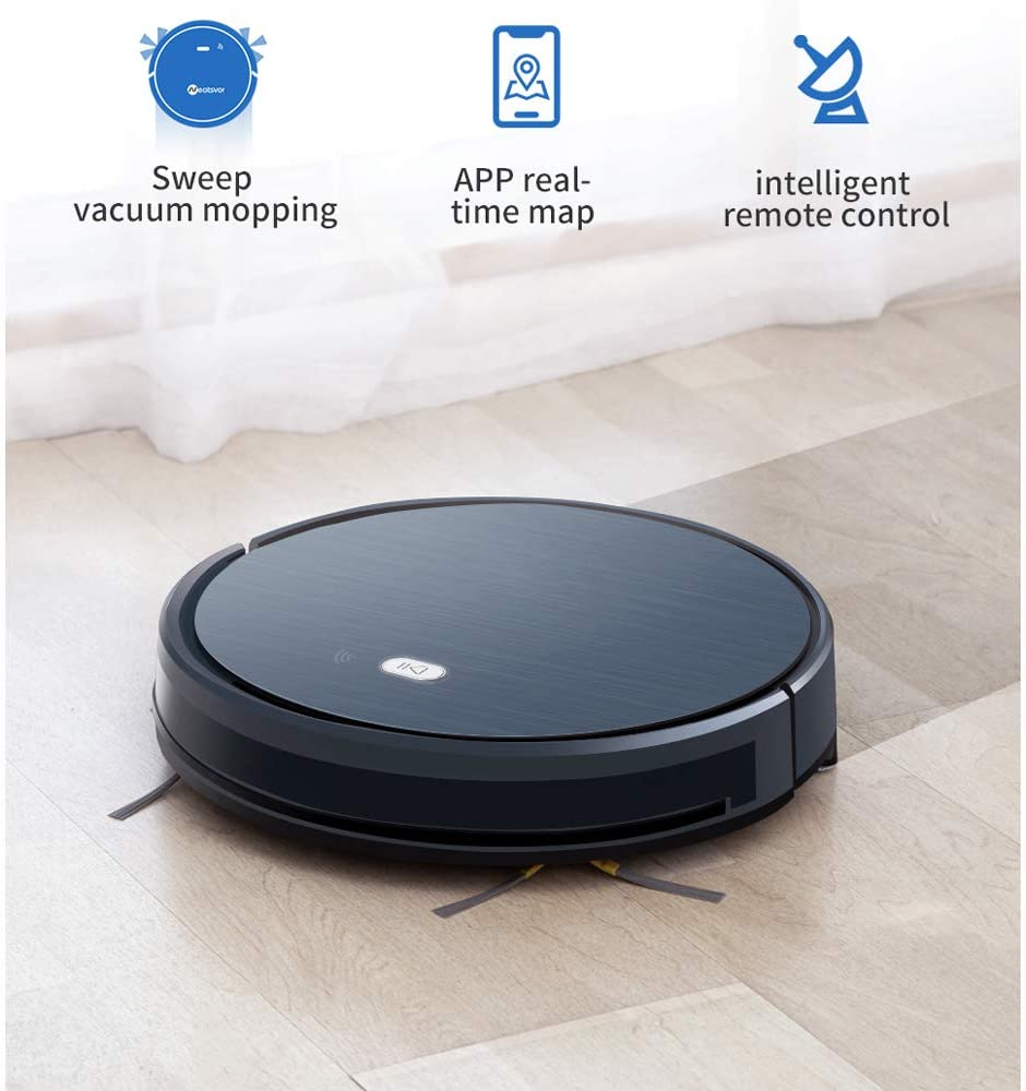 QWERTOUY Robot Vacuum Cleaner 1800PA Poweful Suction 3in1 pet Hair Home Dry Wet Mopping Cleaning Robot Auto Charge Vacuum