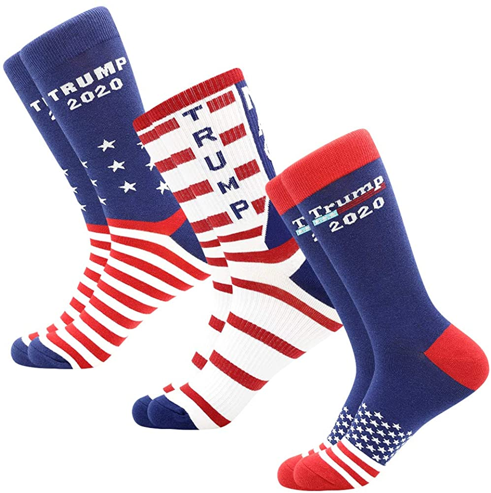 American Flag Socks Mens Fun Dress Socks Patriotic Flag Stars Novelty Funny Crazy Funky Groomsmen Socks Patterned
