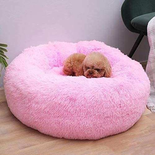 Terraberk Autumn and Winter Round Long haired Pet Mat Suitable for Cats and Dogs Sleeping