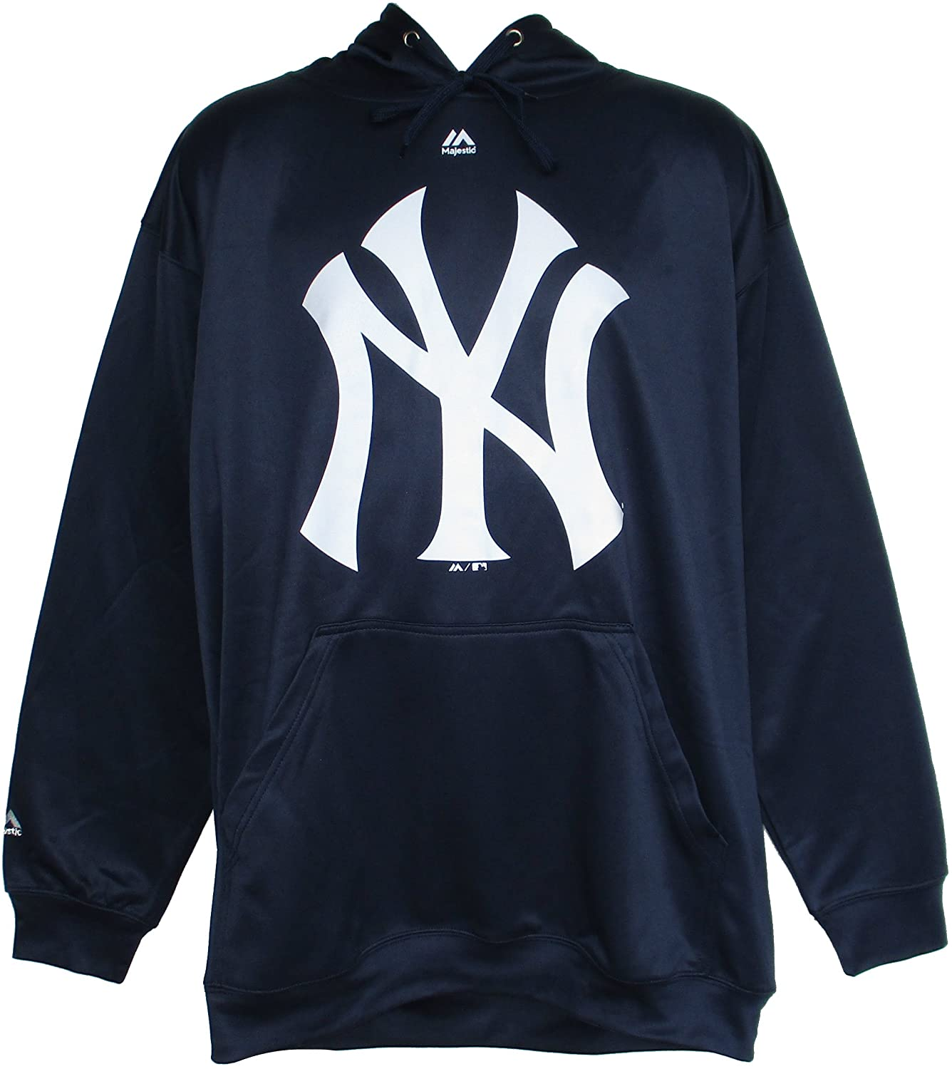 Majestic New York Yankees 5X-Large Tall 5XLT Hooded Pullover Performance Sweatshirt - Team Colors