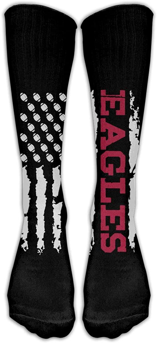 Eagles American Flag Unisex Crew Socks High Athletic Ankle Socks Cotton Long Socks for Women Men