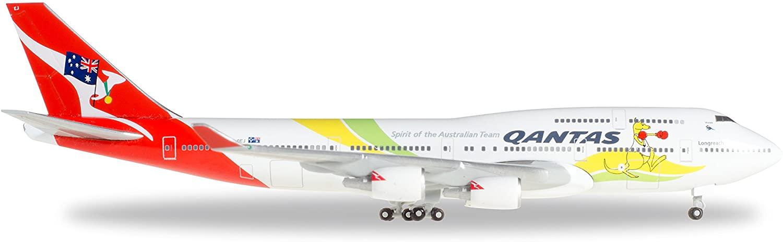 Daron HERPA QANTAS 747-400 1/500 Spirit of Australian Team VH-OEJ