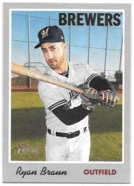 Ryan Braun 2019 Topps Heritage Milwaukee Brewers Card #111