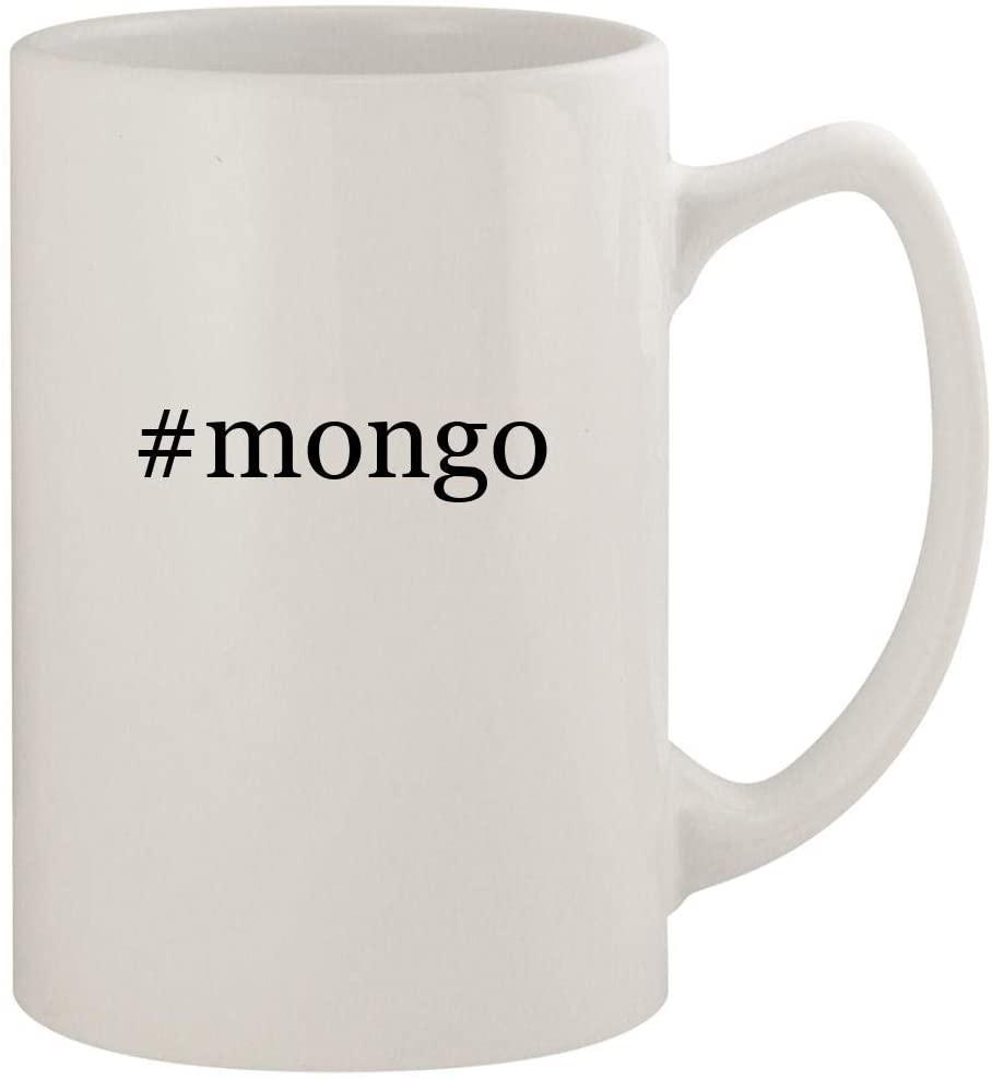 #mongo - 14oz Ceramic White Statesman Coffee Mug, White
