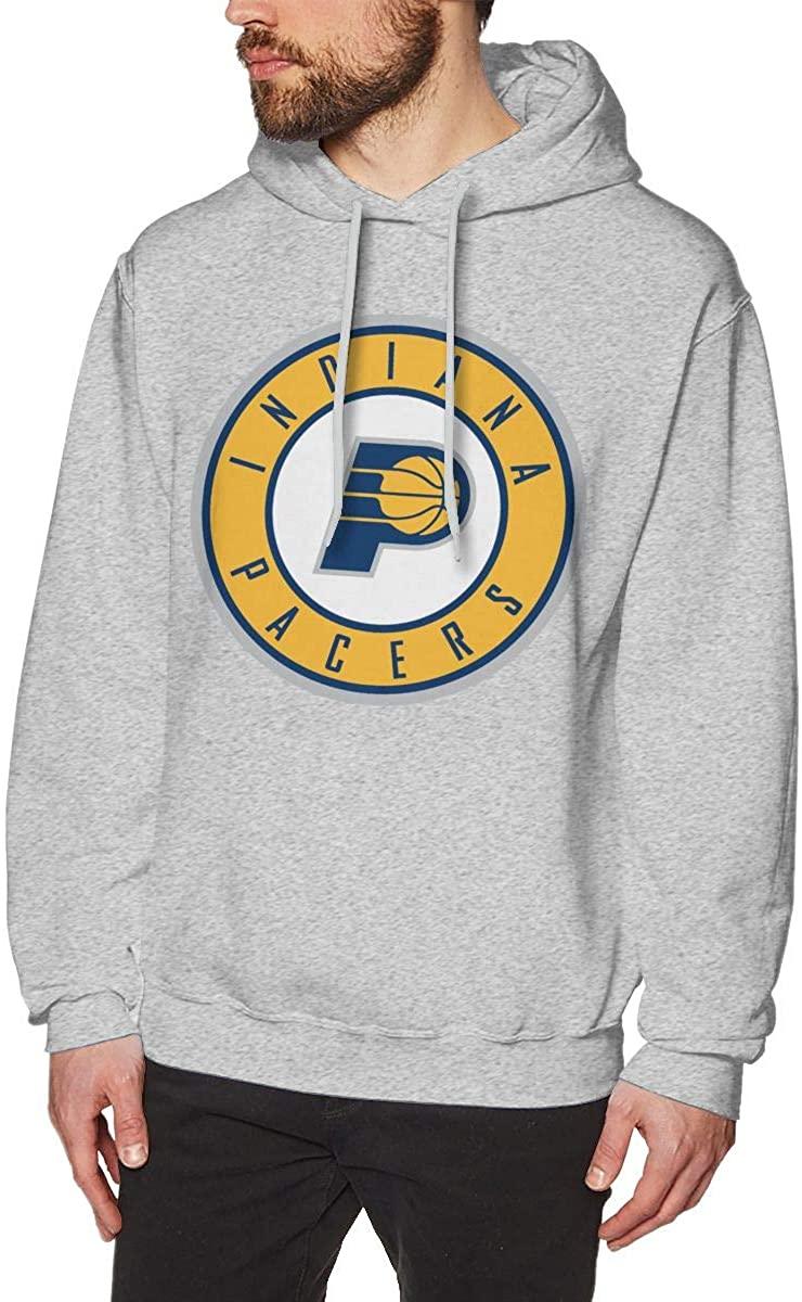 Kisdrop Indiana Basketball Pace Men's Hoodie Pullover Hooded Sweatshirts