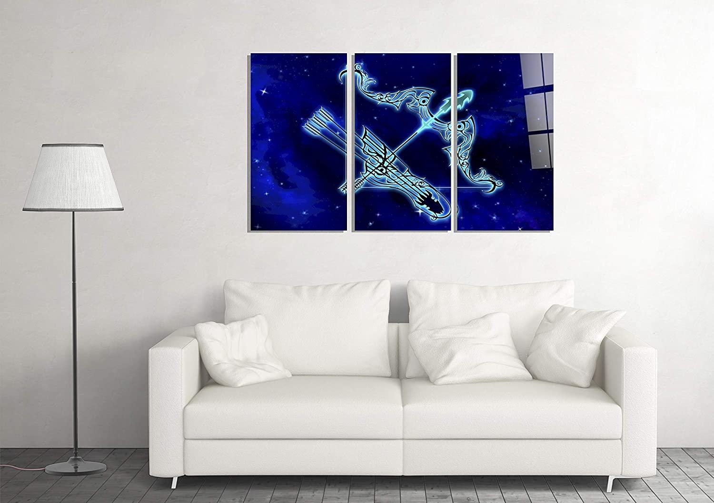 Sagittarius Zodiac Sign Astrology Decor Print Glass Wall Art Tempered Glass Gift
