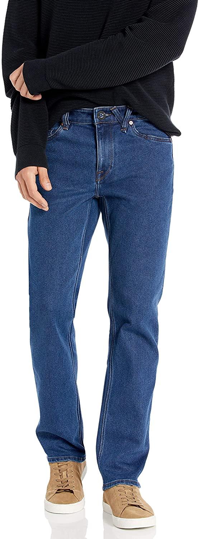 Volcom Men's Solver Denim Jean Standard Issue Blue 33W x 32L