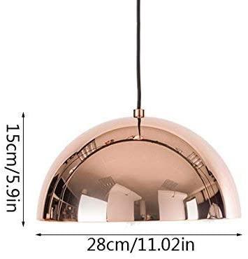 1-Light Modern Chrome Rose Gold Mirror Ball Pendant Lamp Globe Hanging Light Chandelier Warehouse Metall Round Lampshade Aluminum Bedroom Bedside Ceiling Light Chandelier E27