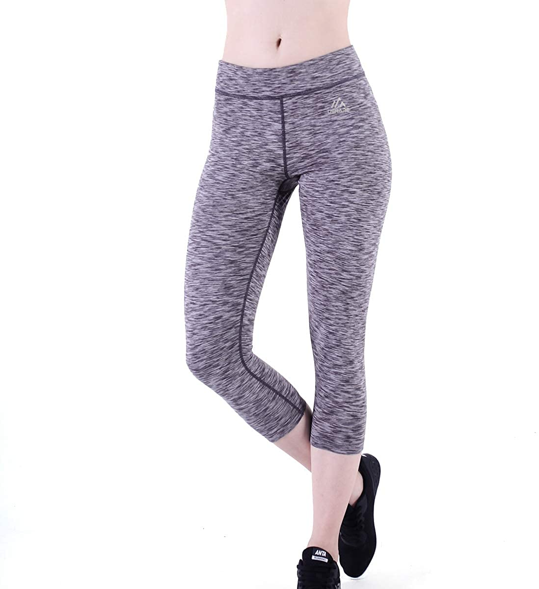 Nobranded USHARESPORTS Leggings for Womens High Waisted Workout Capri Yoga Pants Tummy Control Running Dacing Fitness