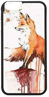 iPhone 6 6S iPhone 7 Case (4.7inch) Full Printing Slim-Fit Ultra-Thin Anti-Scratch Shock Proof Dust Proof Anti-Finger Print Case for iPhone 6 7 plus (5.5inch) Fox color illustration (6plus)