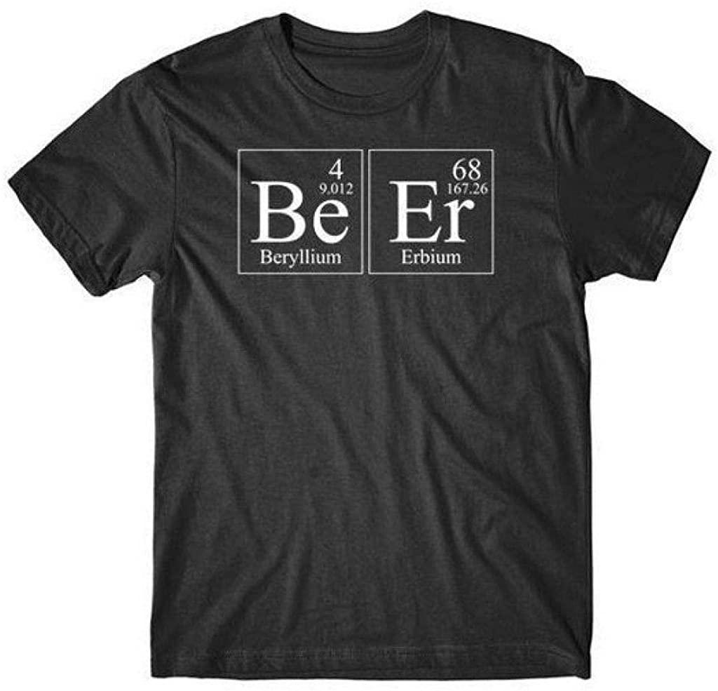Beer Beryllium Erbium Periodic Table Elements Funny Science T-Shirt