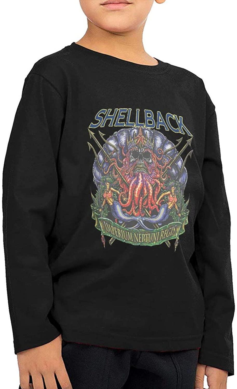 Trend Us Navy Shellback Boys Girls Leisure Childlong Sleeve T-Shirt Sweatshirt