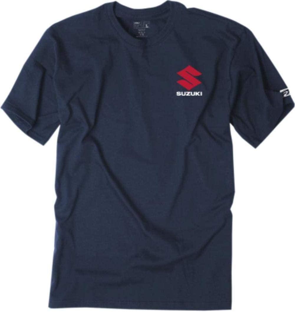 Factory Effex Unisex-Adult Suzuki Shutter T-Shirt (Navy, XX-Large)