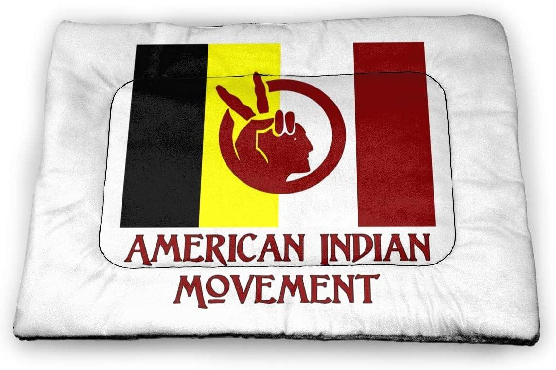 Wehoiweh Aim-American Indian Movement Small Pet Mat Cat Mat Dog Bed Kennel Sofa Bed Floor Car Seats Travel