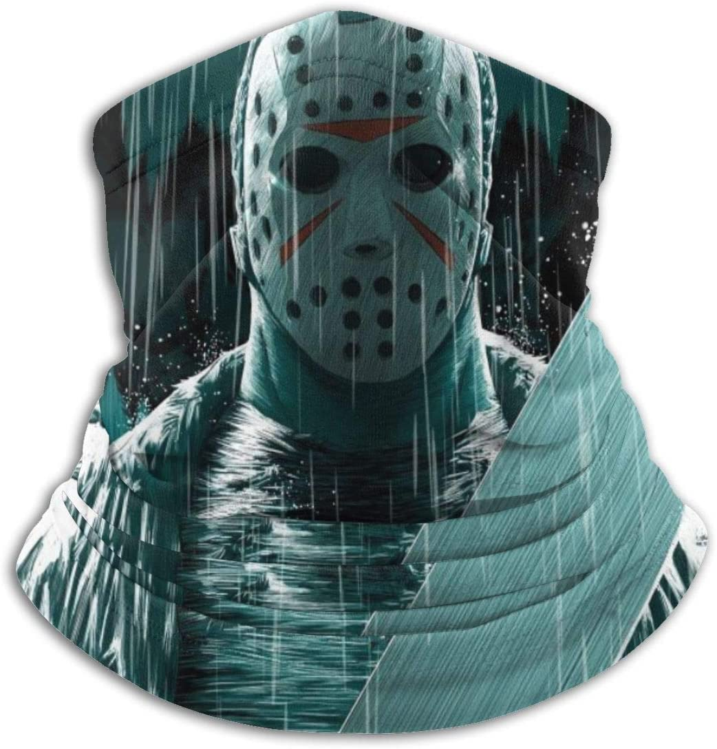 Funnyy Jason Voorhees Ultra-Thin Fiber Neck Warm Scarf, Warm Headwear, Decoration, Cold Protection, Men and Women, Universal Black