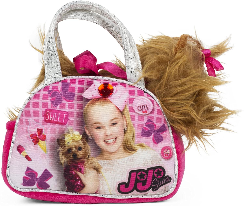 Girls Nickelodeon JoJo Siwa Pink Handbag with Removable Plush Yorkie Dog Doll