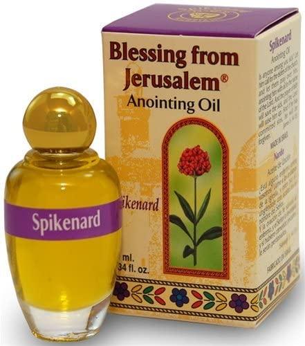 Holy Land Market Blessing from Jerusalem Anointing Oil - 10ml (.34 fl. oz.) (Spikenard)