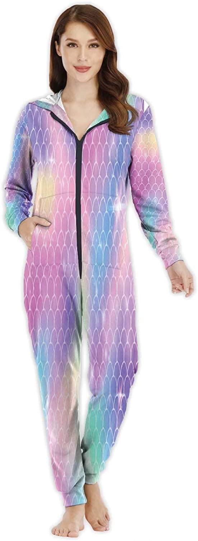 C COABALLA Christmas Scene Tree Gifts,Women's Onesie Pajamas Sportswear Xmas Gift XS835 M