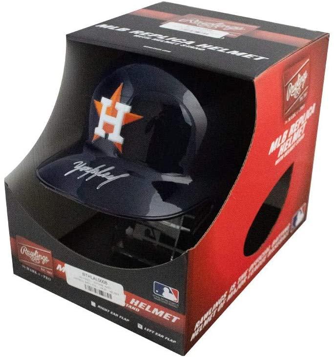 Yordan Alvarez Autographed Houston Astros Replica Baseball Batting Helmet - Fanatics
