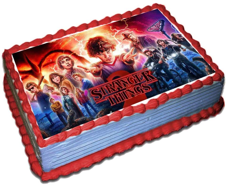 Stranger Things cake topper Sheet Edible Frosting Photo Cake decoration with Icing Sugar Paper