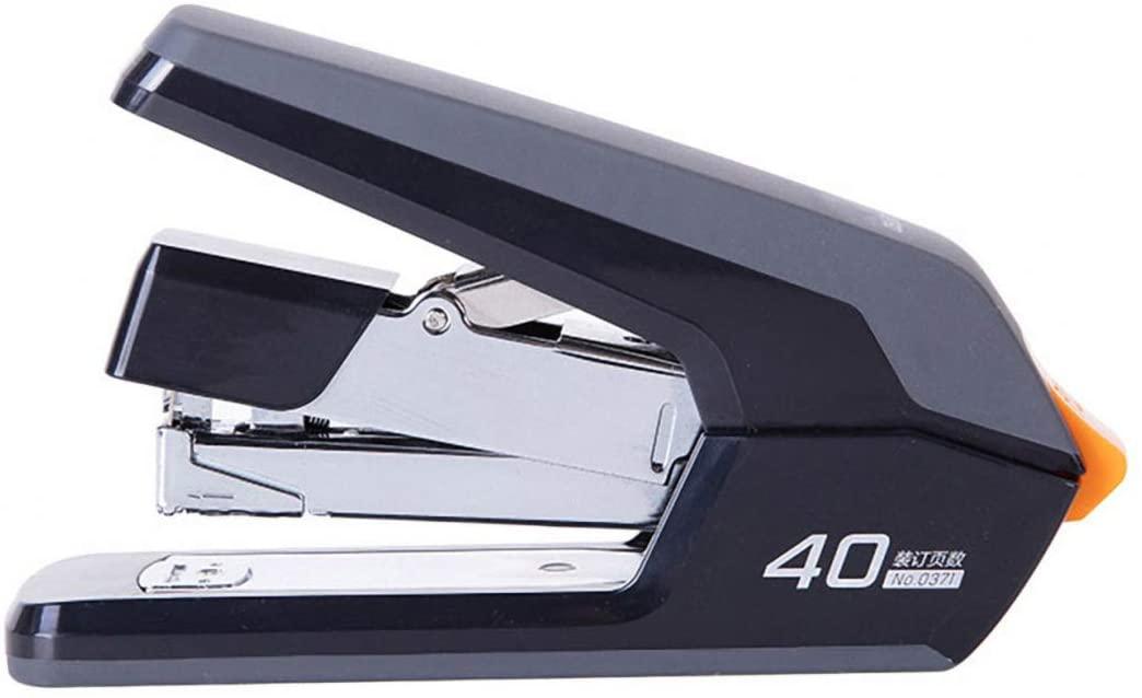 Desktop Stapler,40 Sheet Capacity, Reduced Effort,Spring Powered Stapler, Be Applicable Standard Staples,White,Black (Black)