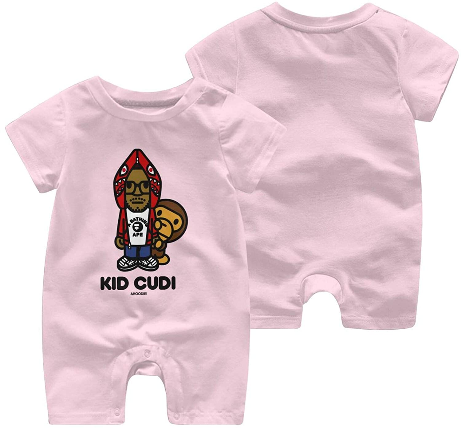 Shanion Kid Cudi Comfortable and Cute Baby Short Sleeve Jumpsuit