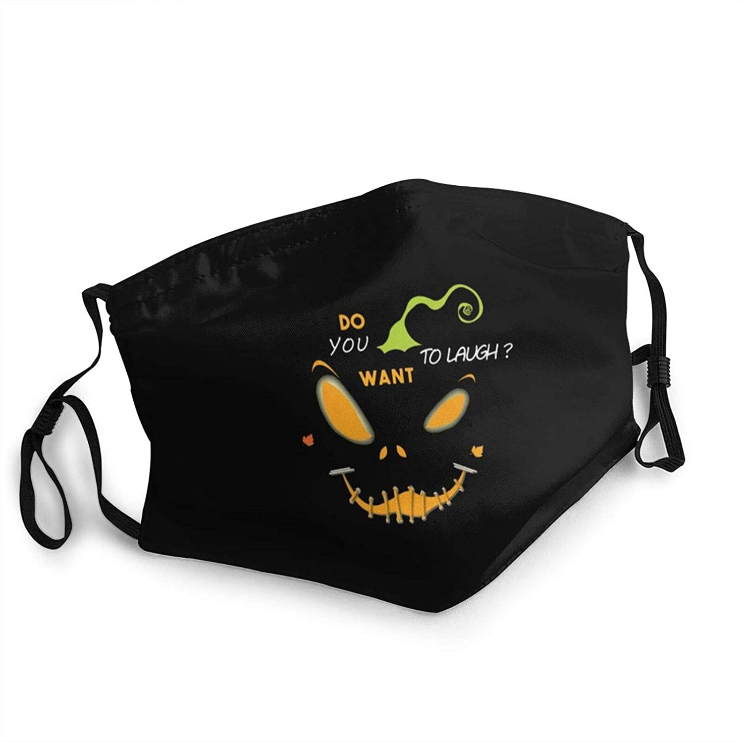 Adult Kids Cloth Face Mask Smile - Design Halloween Dust Masks Reusable Balaclava for Outdoor